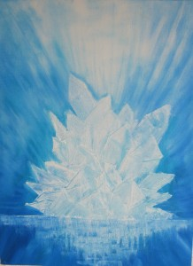healende krystal, 30x40, solgt